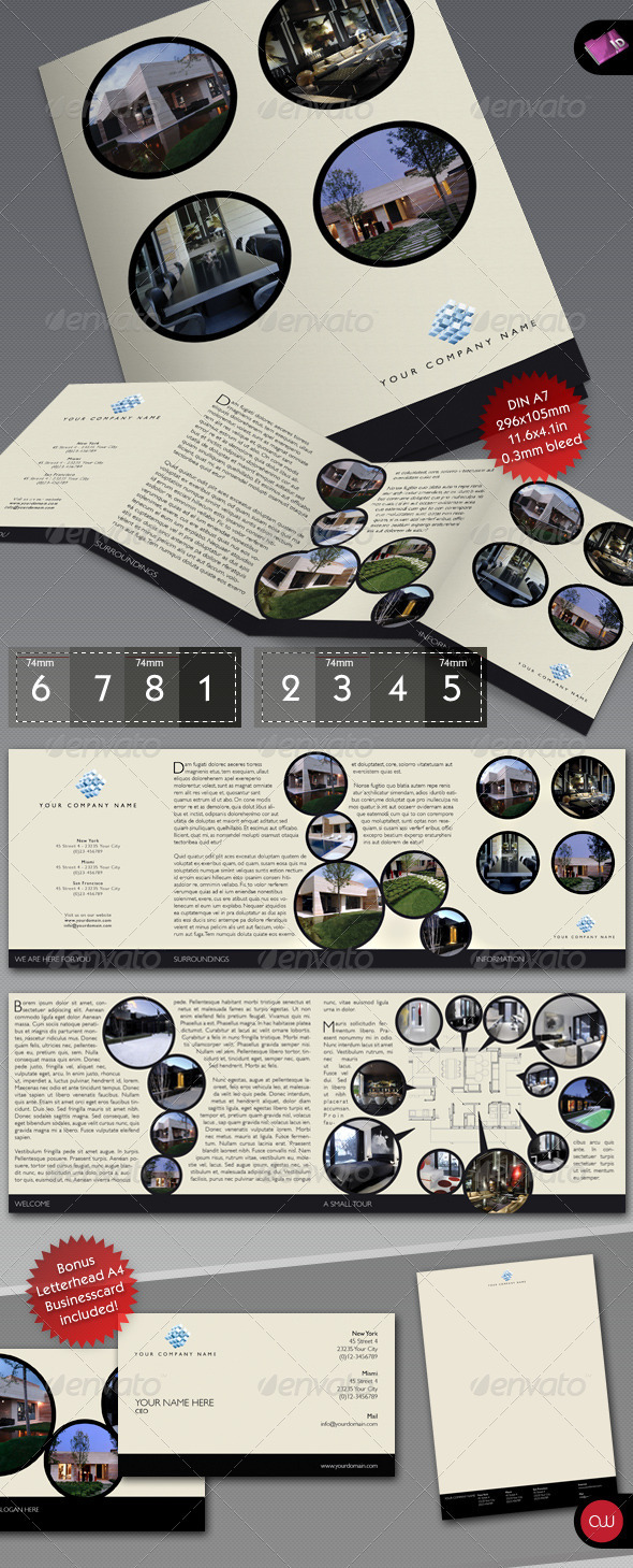 Book & Brochure - 4-fold template - Corporate Brochures