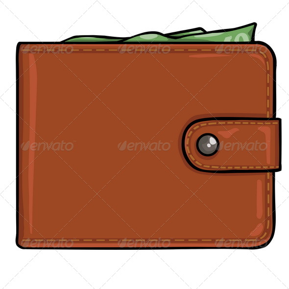 GraphicRiver Vector Brown Leather Wallet 5297449