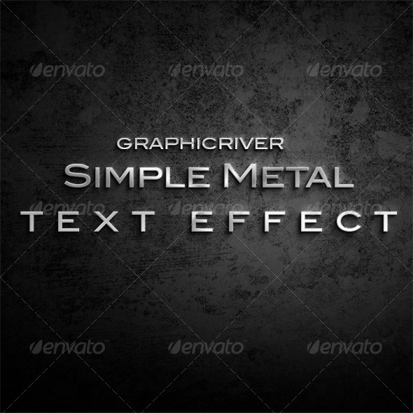 GraphicRiver Simple Metal Text Effect 5292084