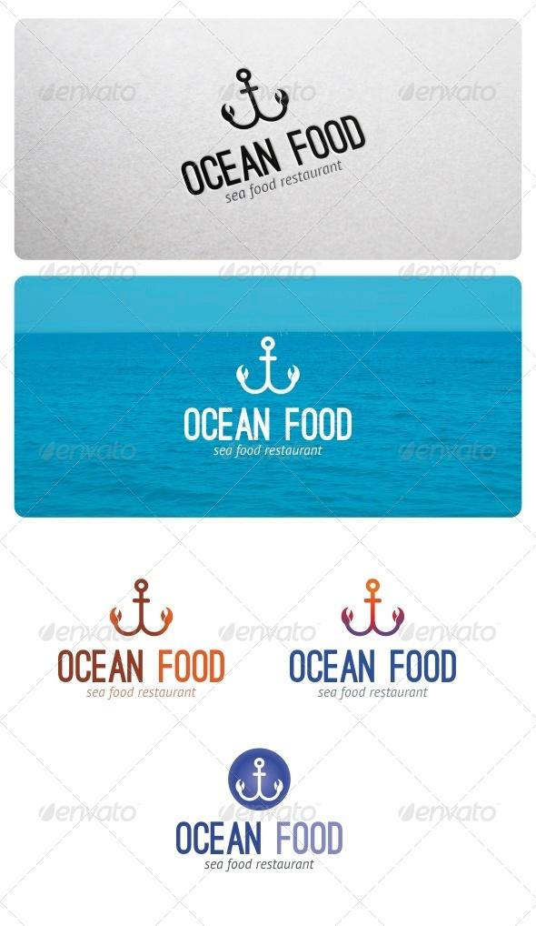 GraphicRiver Ocean Food Logo 5298494