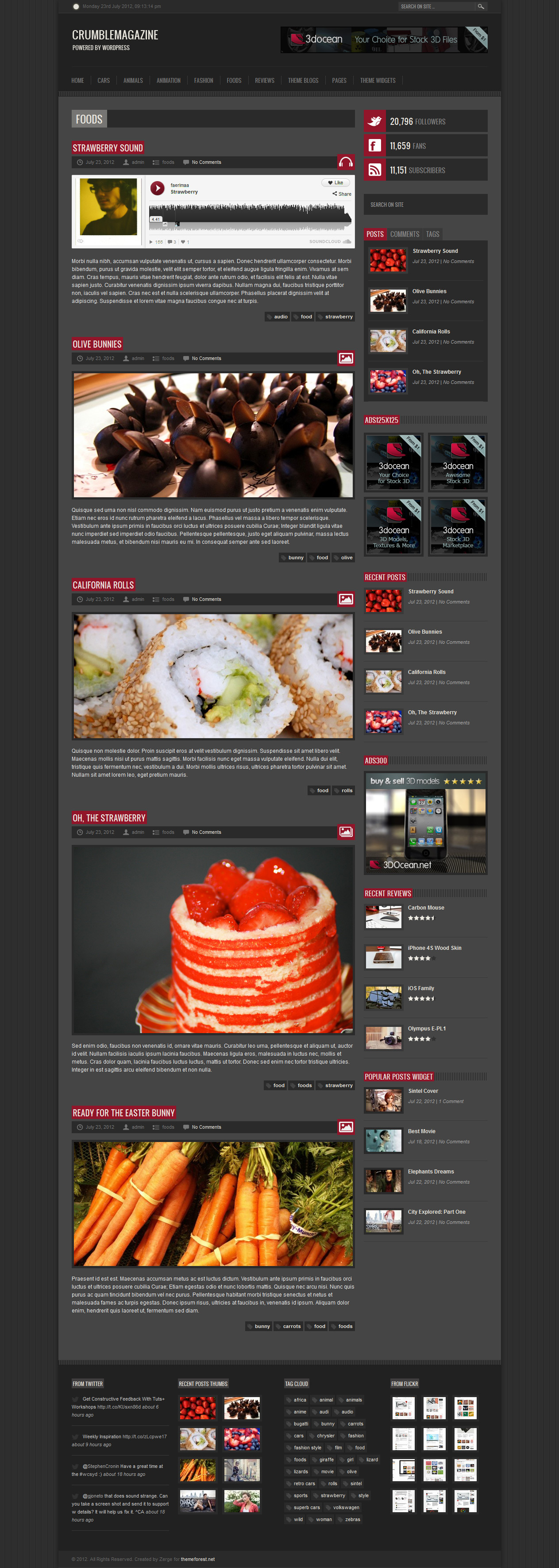 Crumble - Responsive HTML Template - Category Food
