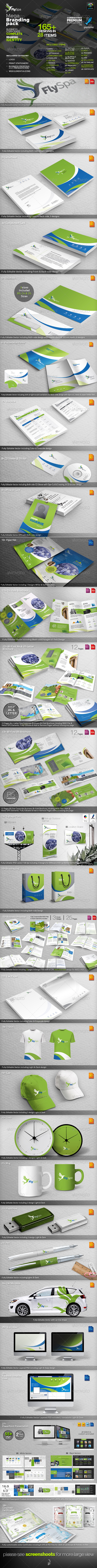 GraphicRiver FlySpa Corporate Identity Mega Branding Pack 5298566