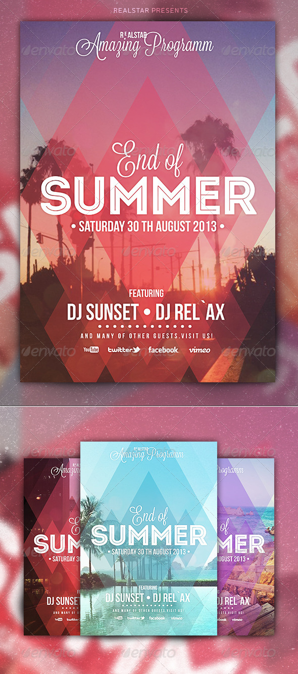 GraphicRiver End of Summer Party Flyer 5298789