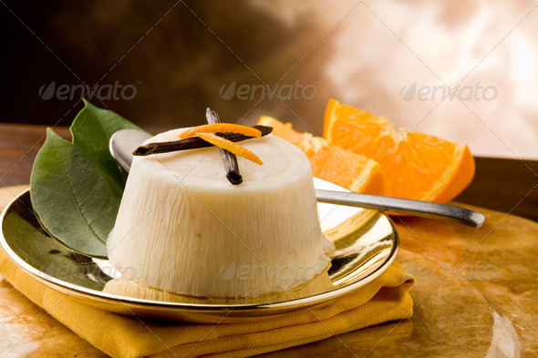 Vanilla Orange Pudding - Stock Photo - Images