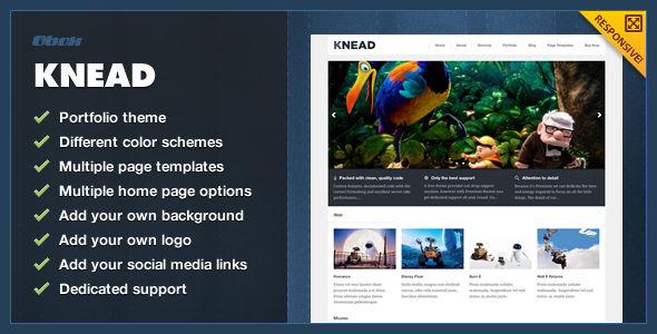 Knead - Responsive Portfolio WordPress Theme - Creative WordPress