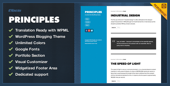 Principles - WordPress Blogging Theme