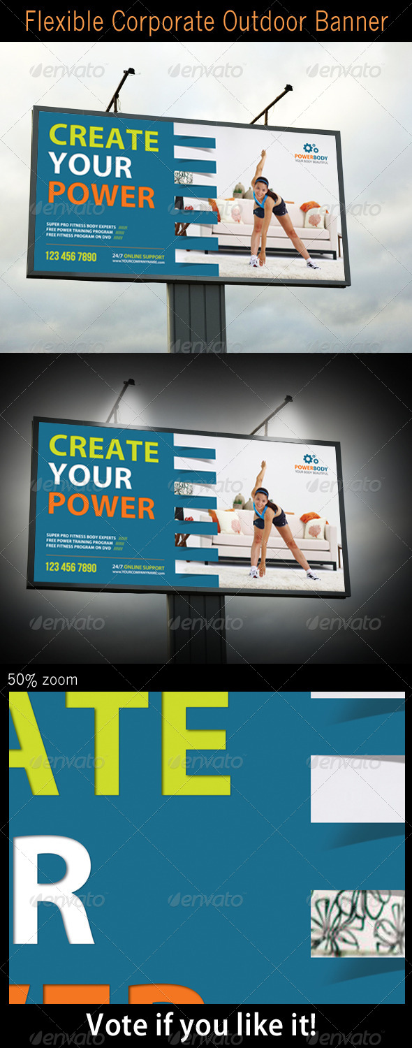 Flexible Corporate Outdoor Banner - Signage Print Templates