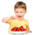 Little boy with strawberries - PhotoDune Item for Sale