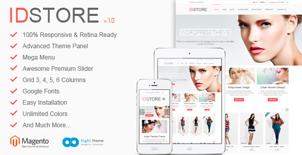 ThemeForest IDStore Responsive Multi-Purpose Magento Theme 5293560