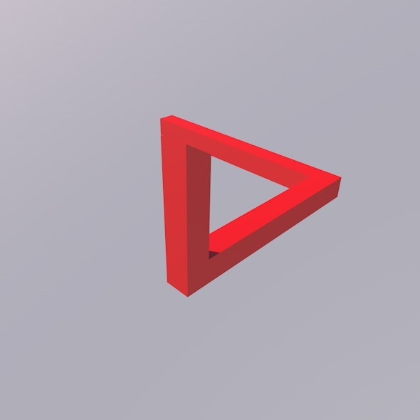 3DOcean Penrose Triangle Illusion 5304805