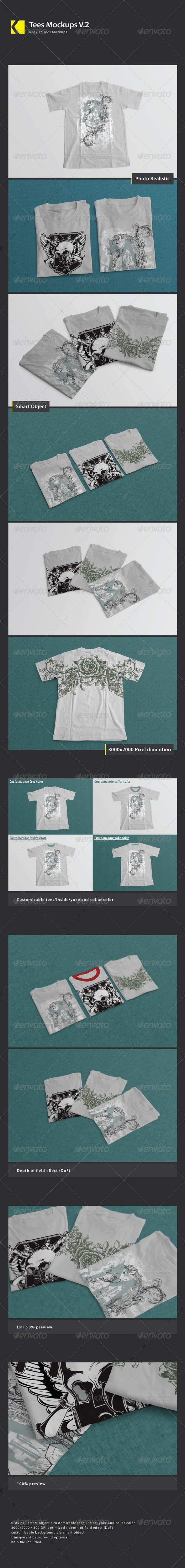 GraphicRiver Tees Mock Ups V.2 5304919
