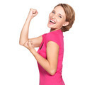 Beautiful happy woman celebrating success - PhotoDune Item for Sale