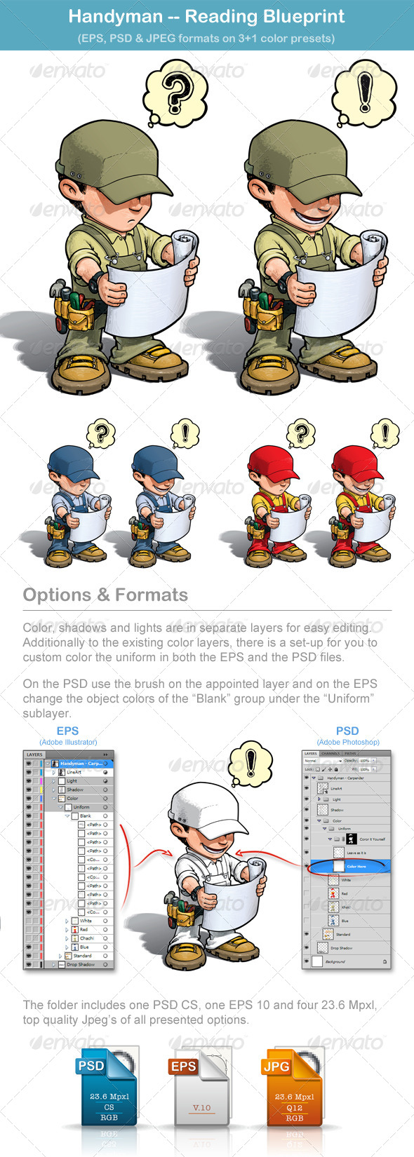 GraphicRiver Handyman Reading Blueprint 5306576