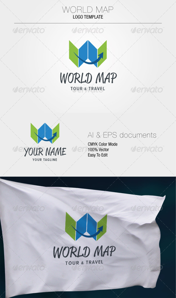 GraphicRiver World Map Logo Template 5306866