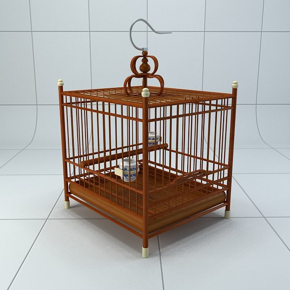 3DOcean Chinese style bird cage 2 5307088