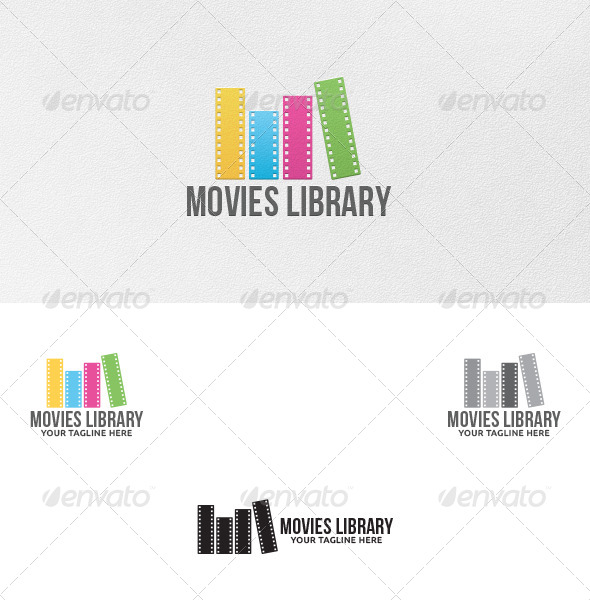 GraphicRiver Movies Library Logo Template 5307306