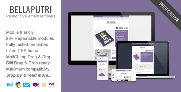 ThemeForest Bellaputri Usable Responsive Email Template 5307402