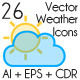 Vector Stylish Weather Icons - GraphicRiver Item for Sale