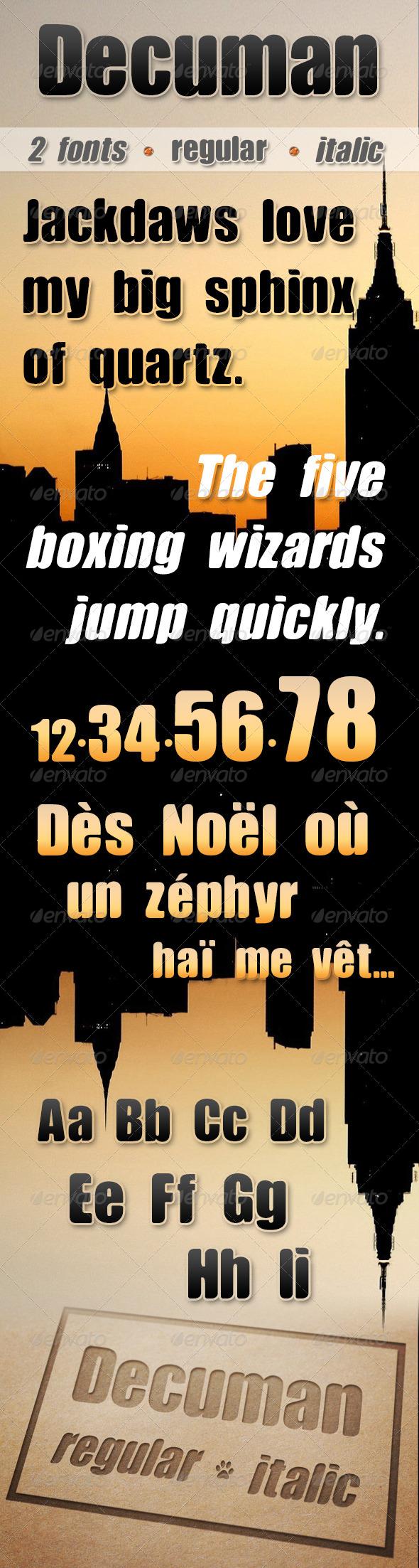 GraphicRiver Decuman Font 5307957