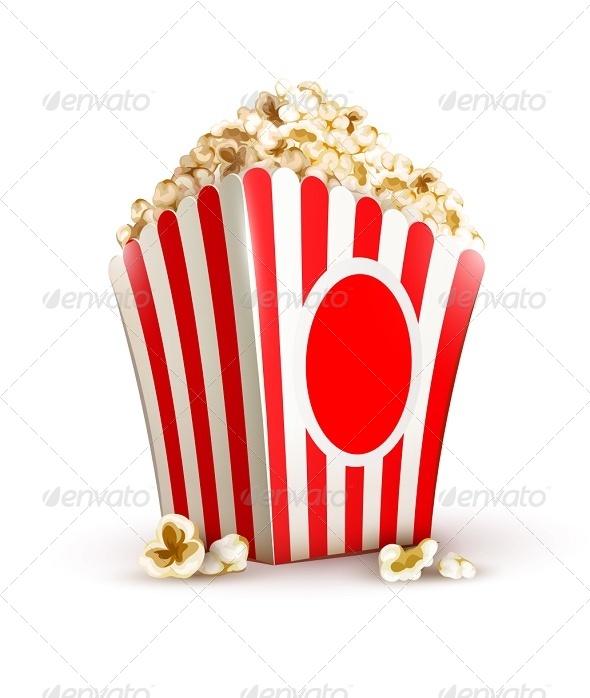 GraphicRiver Paper Bag Full of Popcorn 5309512