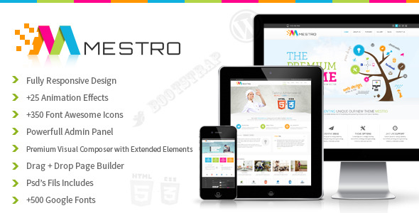 Mestro - Animated Multipurpose Wordpress Theme