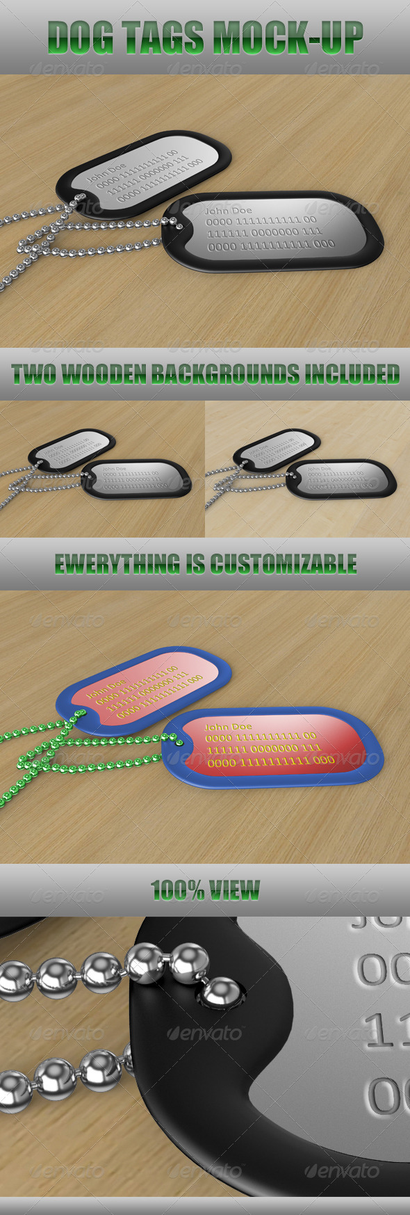 GraphicRiver Dog Tags Mock-Up 547101