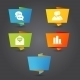 Origami Banner with Office Icons - GraphicRiver Item for Sale