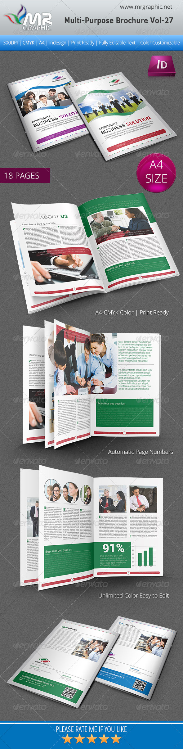 GraphicRiver Multipurpose Business Brochure Template Vol-27 5310416