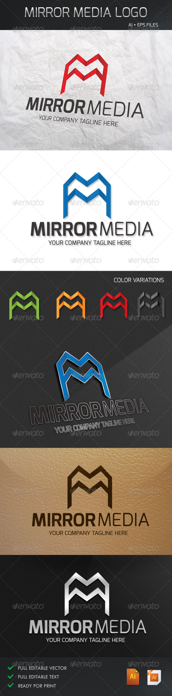 GraphicRiver Mirror Media Logo 5304767