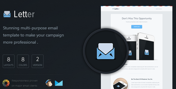 ThemeForest Letter Responsive Email Template 5310554
