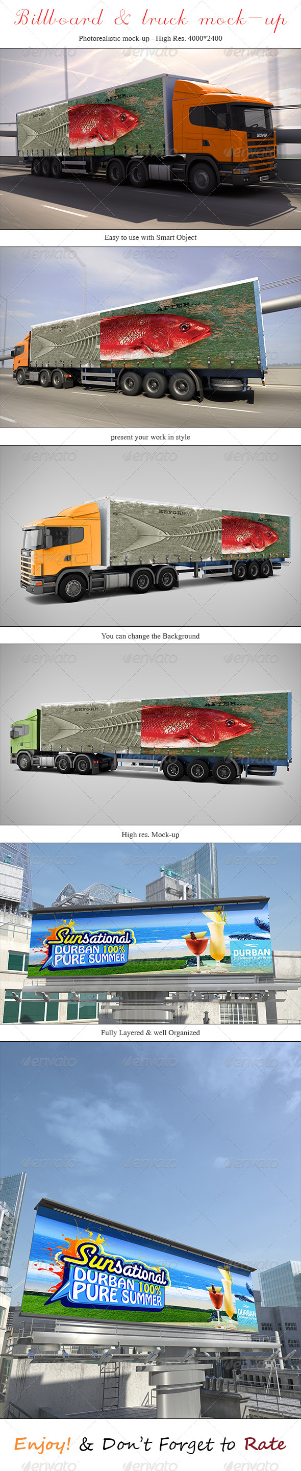 GraphicRiver Billboard & Truck Mock-up 5310583