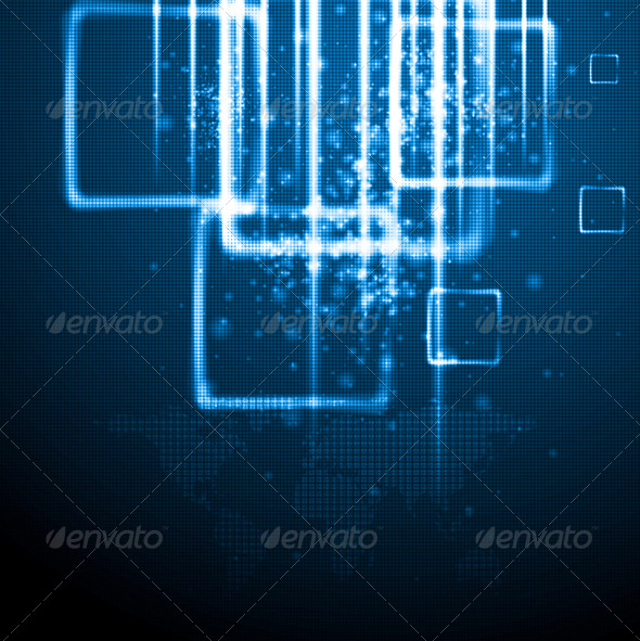 GraphicRiver Hi-Tech World Map Vector Design 5311819