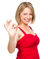 Woman is showing OK sign - PhotoDune Item for Sale
