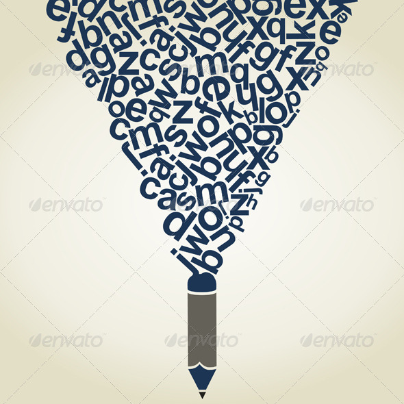 GraphicRiver Letter a Pencil 5312964