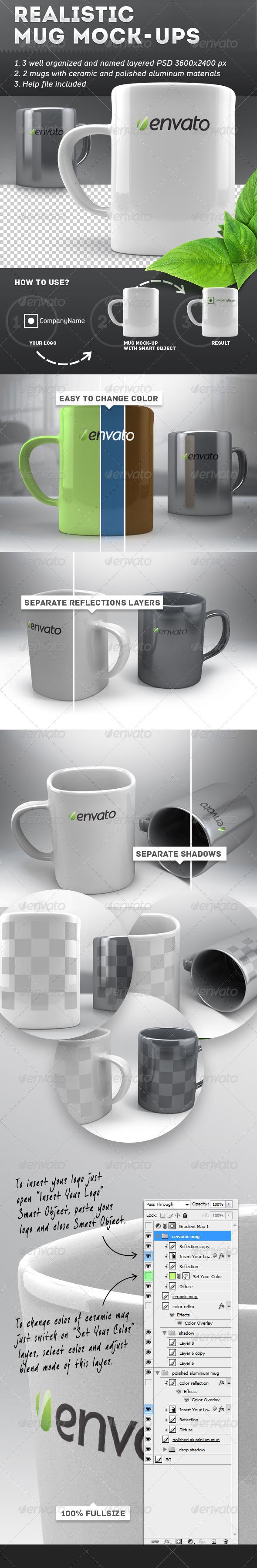 GraphicRiver Realistic Mug Mock-Ups 5314447