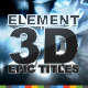 Epic Action Opener Element 3D - VideoHive Item for Sale