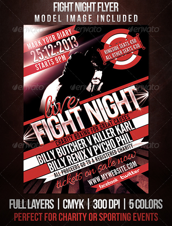 GraphicRiver Fight Night Sports Flyer 5315699