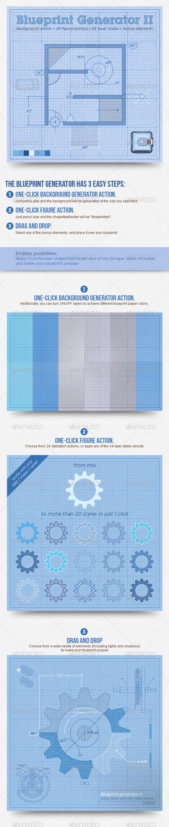 GraphicRiver Blueprint Generator II Action & Layer Styles 5315724