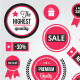 Vector Ecommerce Badges Labels and Stickers  - GraphicRiver Item for Sale