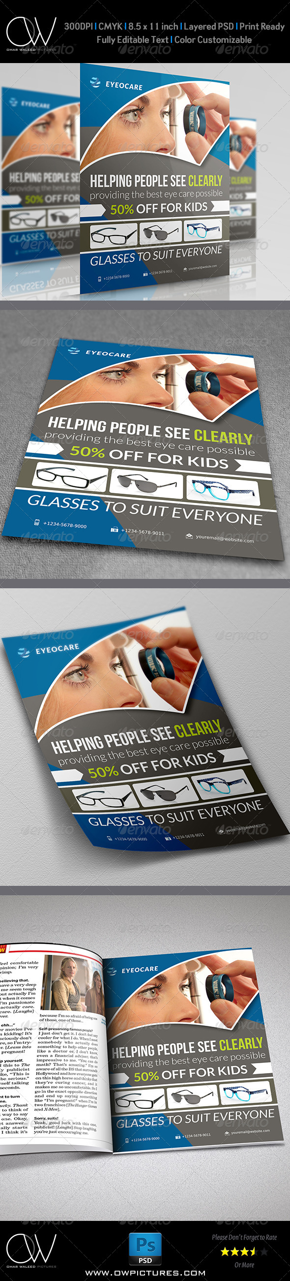 GraphicRiver Optometrist & Optician Flyer 5315772