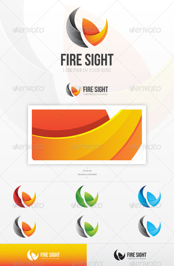 Fire Sight Logo - Vector Abstract