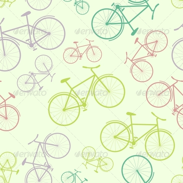 GraphicRiver Seamless Bicycle Vector Pattern 5315930