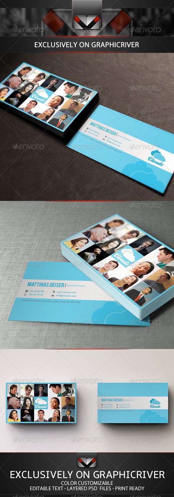 GraphicRiver Blue Business Card 5316277