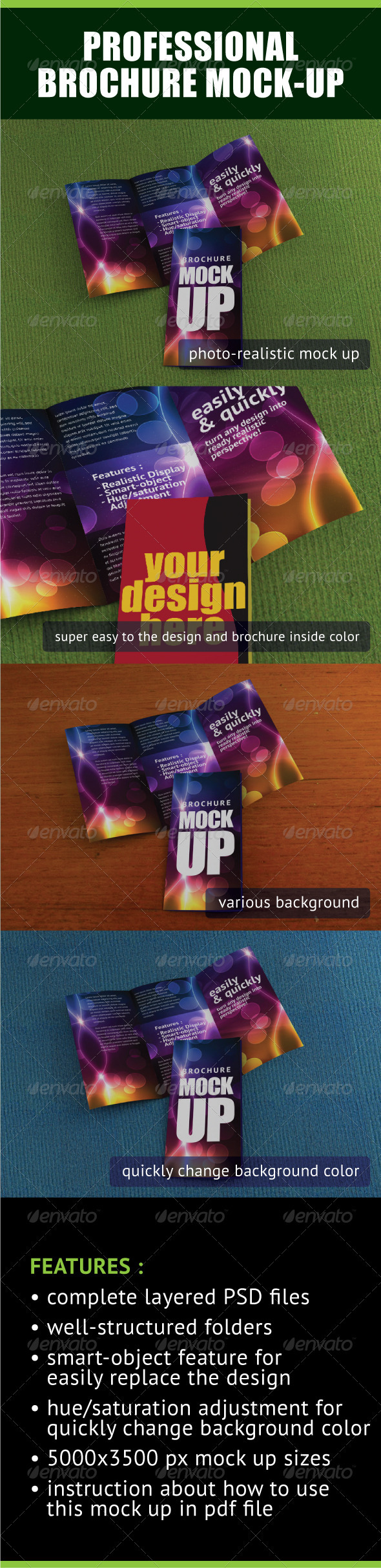 GraphicRiver Professional Trifold Brochure Mock-Up 548456