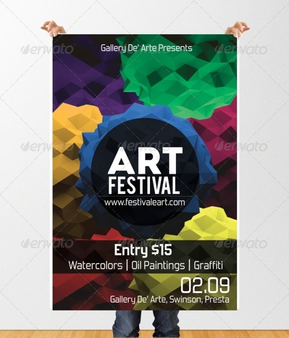 GraphicRiver Art Festival Flyer Template 4801403