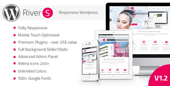 RiverS Retina Responsive Multi-Purpose Theme - Corporate WordPress