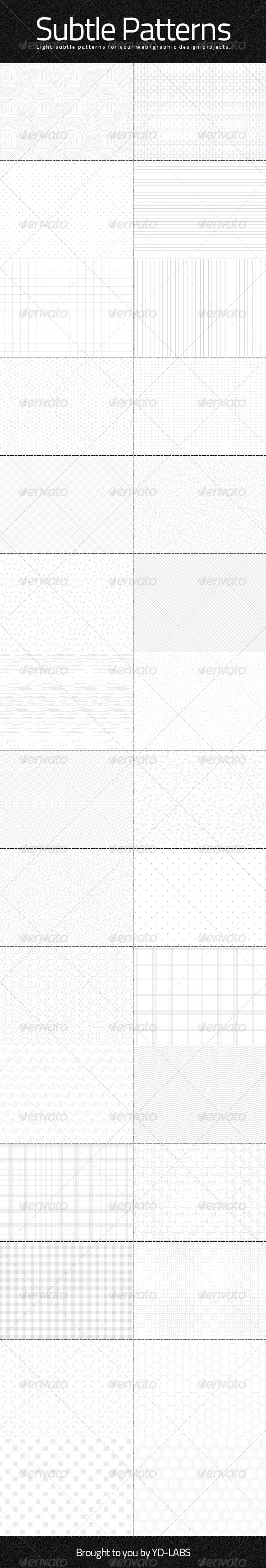 GraphicRiver Light Subtle Patterns 5318112