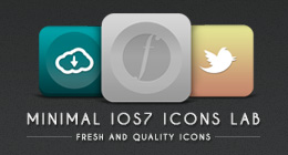 Minimal iOS 7 icons lab