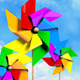 Colored Spinning Pinwheels on the Sky - VideoHive Item for Sale