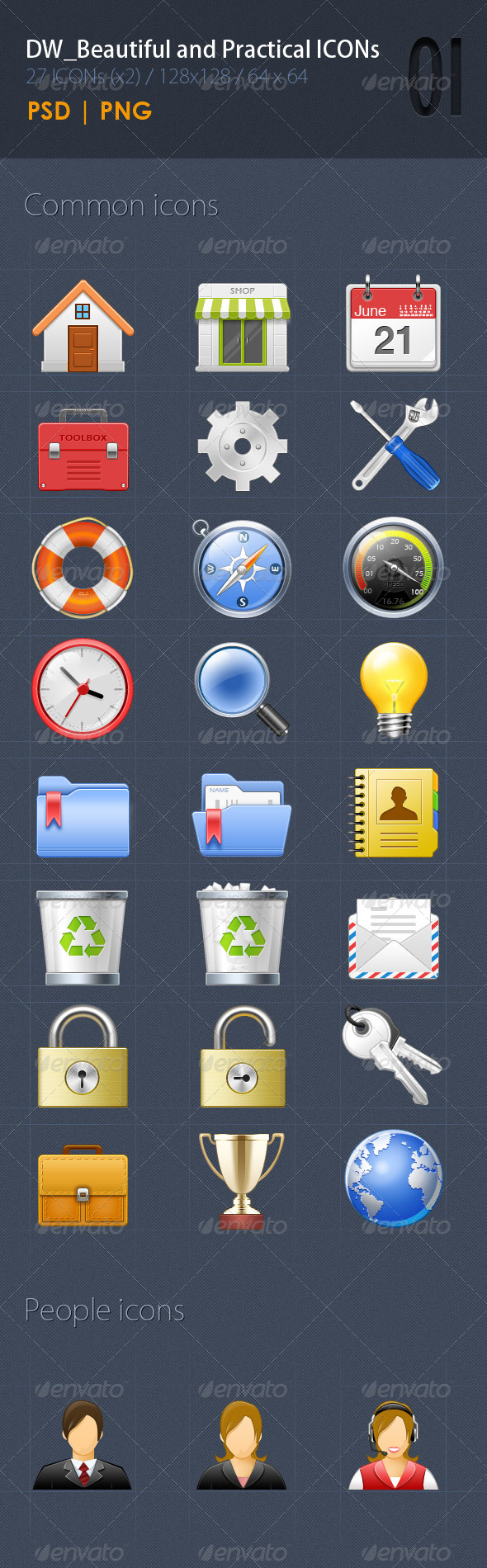GraphicRiver 27 Beautiful&Practical ICON1 5314024